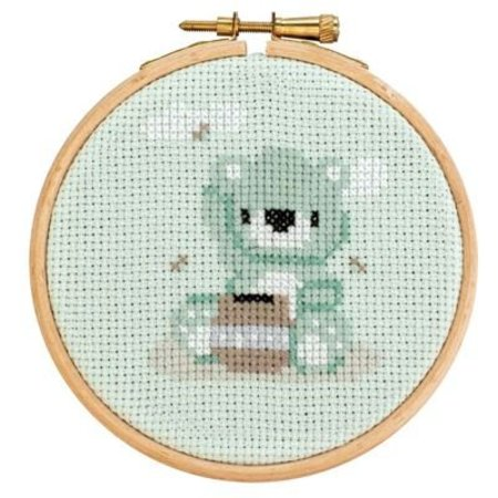 DenDennis Borduurpakket met ring Little Woodland Adventures  Berry Bear (12)