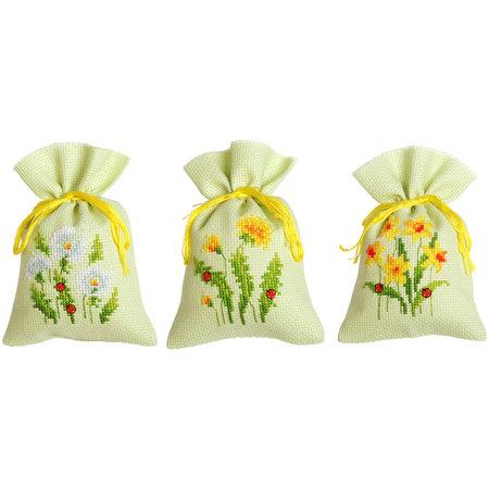 Vervaco Borduurpakket Kruidenzakjes Paardenbloemen - set van 3