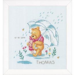 Vervaco Borduurpakket Winnie in regen