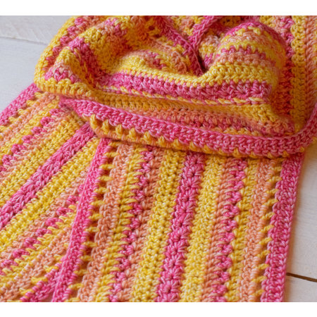 Caro's Atelier Haakpakket Stone Washed Mikado sjaal
