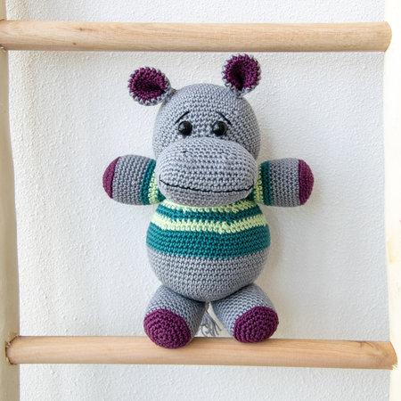 Caro's Atelier Haakpakket: Nijlpaard Noud - Jenny van OK Kadootjes