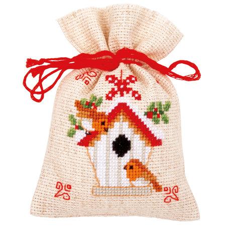 Vervaco Borduurpakket Kruidenzakjes Kerstmotiefjes - set van 3