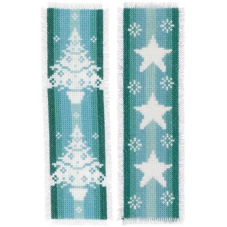 Vervaco Borduurpakket bladwijzer Nordic Christmas - set van 2