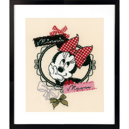 Vervaco Borduurpakket It's all about Minnie 22 x 26 cm