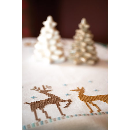 Vervaco Borduurpakket tafelkleed Nordic Christmas