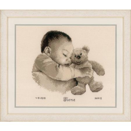 Vervaco Borduurpakket Baby met beer