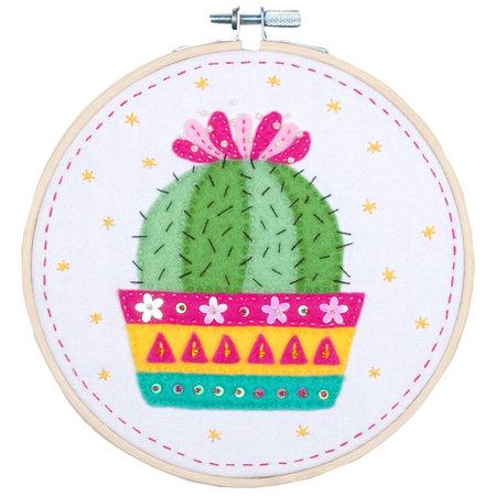 Vervaco Knutselkit met vilt - Cactus- Kits 4 Kids