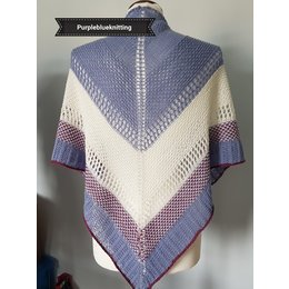 "Breipatroon shawl ""Adara"""