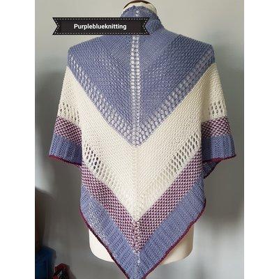 """Breipatroon shawl """"Adara""""  (digitaal)"""
