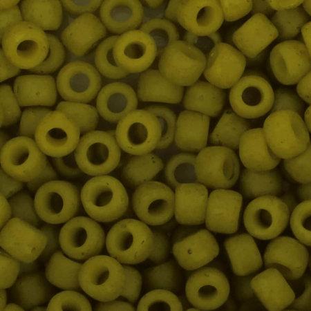 Toho Glaskralen rond 8-0 groen/geel (2600F)