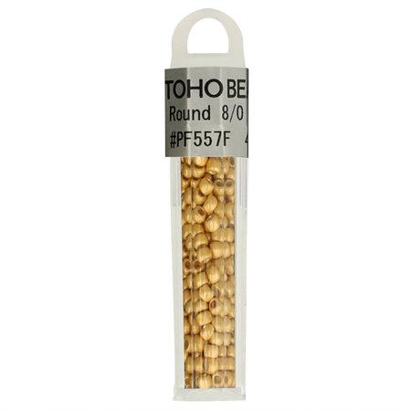 Toho Glaskralen rond 8-0 goud (PF557F)