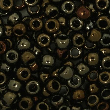 Toho Glaskralen rond 8-0 bruin/groen/grijs (83)