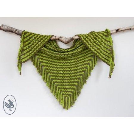 Durable Haakpatroon Cluster V-stitch shawl