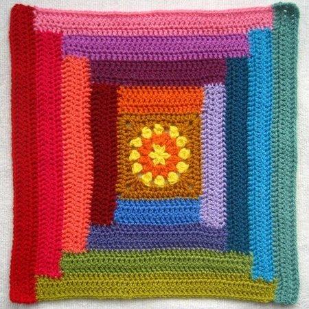 Haakpakket: Sunny Log Cabin Blanket - Attic 24