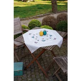 Vervaco Borduurpakket tafelkleed Vlinderdans