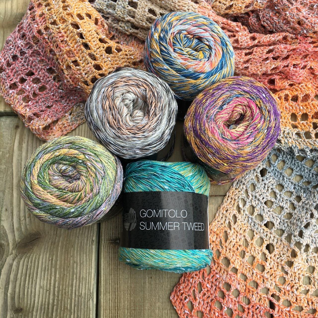 Nieuwe kleuren Gomitolo Summer Tweed