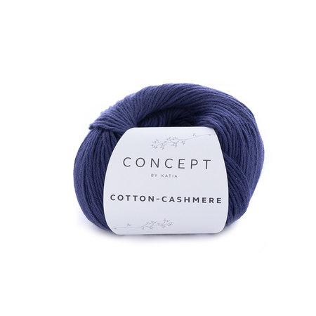 Katia Cotton cashmere 62 Donker blauw