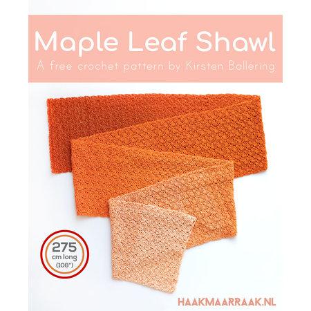 Scheepjes Haakpatroon Maple Leaf Shawl