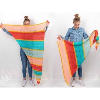 Durable Haakpatroon Kleurrijke zomershawl