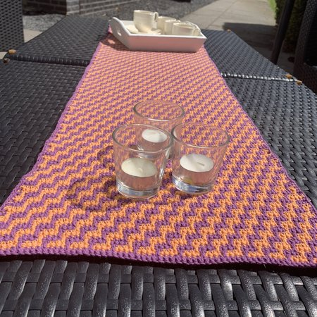 Haakpatroon Tafelloper Sunrise Table
