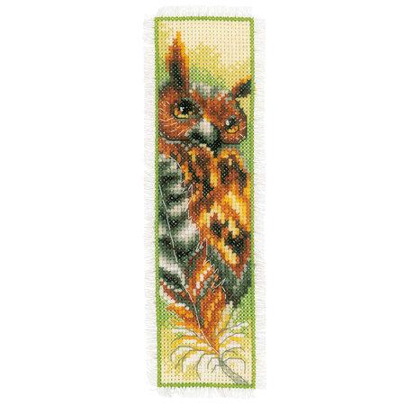 Vervaco Borduurpakket bladwijzer roofdieren - set van 2
