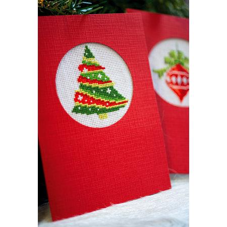 Vervaco Borduurpakket wenskaart kerst set van 3