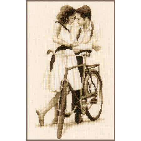 Vervaco Borduurpakket Koppel met fiets