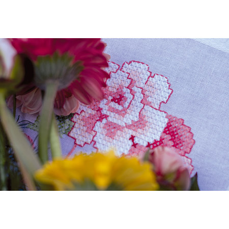 Vervaco Borduurpakket Loper Bloemen met Vlinders