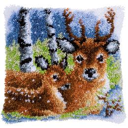 Vervaco Knoopkussen Hert in de sneeuw