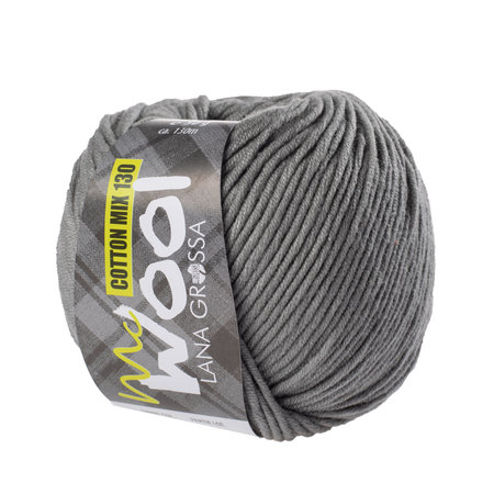 Lana Grossa Mc Wool Cotton Mix 130 - 154 - Grijs
