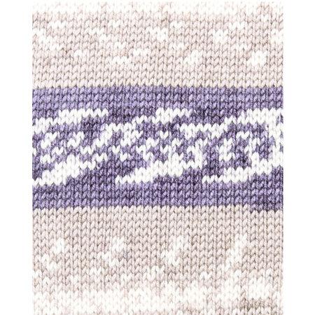 Katia Easy Jacquard Terrabruin Beige Parelmoer Lichtviolet (310)