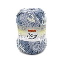 Katia Easy Jacquard Grijs Blauw (311)