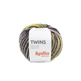 Katia Twins 151 - Oker Bleekrood Blauw