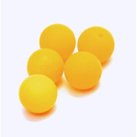 Durable Siliconen kralen 12mm Geel (645)