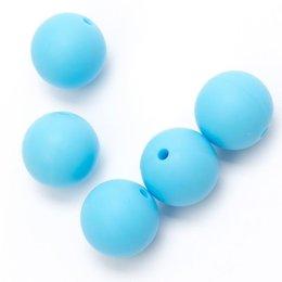 Durable Siliconen kralen 15 mm Turquoise (298)