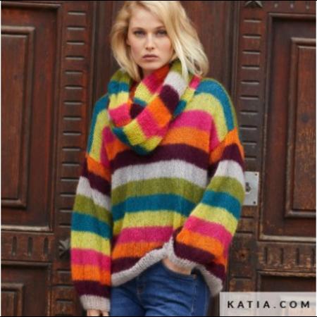 Katia Breipatroon 50 Shades Mohair Trui