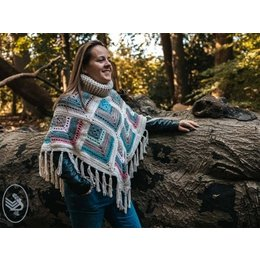 Durable Haakpatroon Winter Diamond Square Poncho