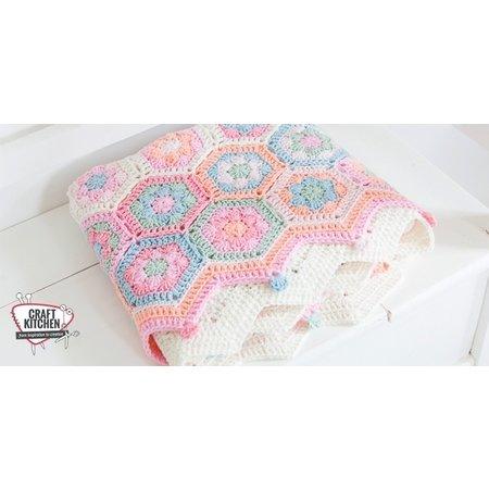 Durable Haakpakket: Hexagon Babydeken van Durable Cosy Fine