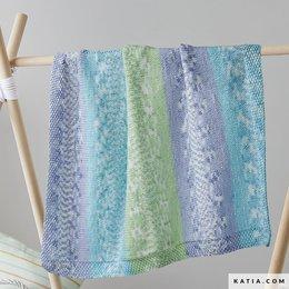 Katia Breipatroon Sweet Blanket Jacquard Babydeken