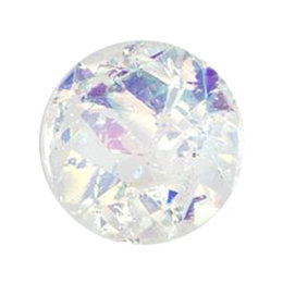 Milward Knoop glitter 15 mm (0300)