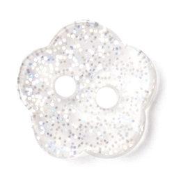 Milward Knoop glitter bloem 11 mm (0410)