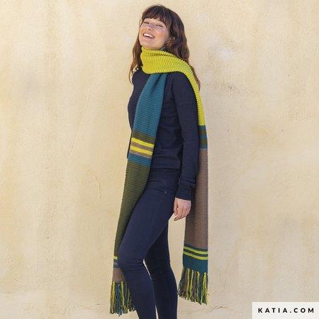 Katia Breipatroon Sjaal voor de Herfst Merino Aran