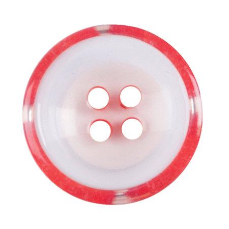 Milward Knoop helder met rood 17 mm (1086)