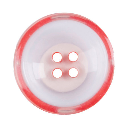 Milward Knoop helder met rood 22 mm (1087)