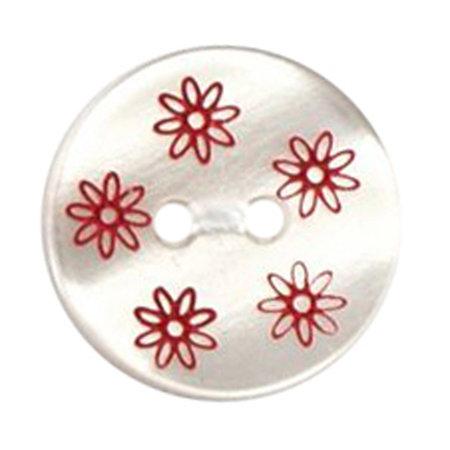 Milward Knoop parelmoer met opdruk 15 mm (0966)