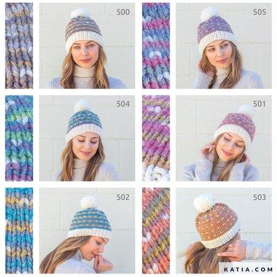 Katia Breipatroon Muts Easy Hat
