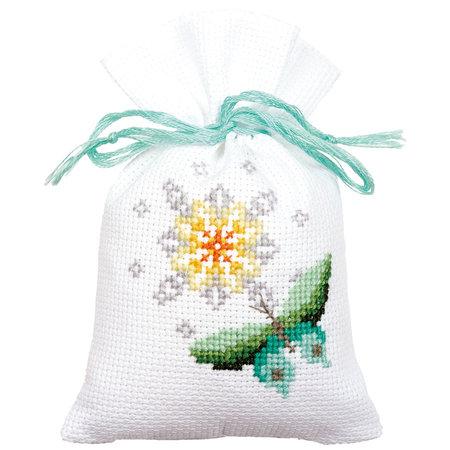 Vervaco Borduurpakket Kruidenzakje Vlinders en Bloemen