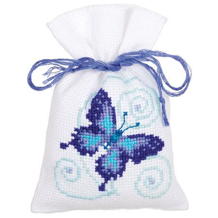 Vervaco Borduurpakket Kruidenzakje Blauwe Vlinders