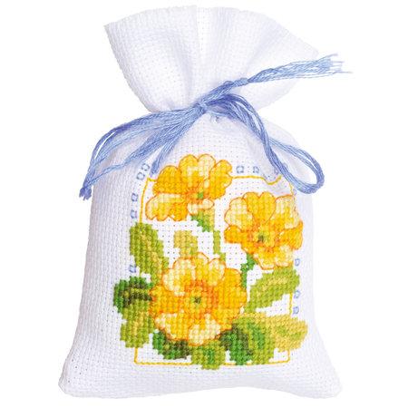 Vervaco Borduurpakket Kruidenzakje Lentebloemen