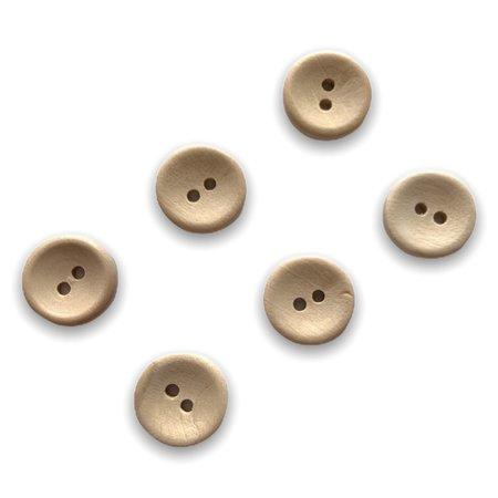 Houten knoop - 20 mm - setje van 6 stuks